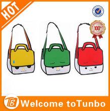 Novelty Magic Comic Cartoon Vivid Handbag / Hot 3D Jump Style 2D Drawing From Cartoon Paper Bag Comic 3D Messenger Bag