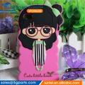 2014 atacado! Silicone caixa da menina bonito caso de telefone celular para a zte huawei