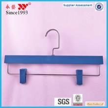 natural blue plastic pants hanger clamp