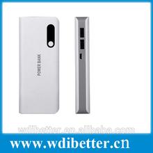 5600mAh Ultra Thin Portable Power Bank - White + Silver