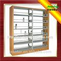 Mdf Side Panel de acero de libros de la biblioteca estanterías de rack, Estantería metálica, Doble / sola estantería para la escuela