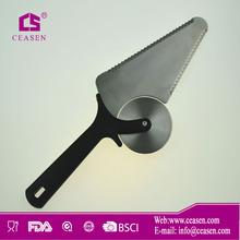custom design stainless steel wheel plastic handle pizza cutter