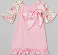 caliente estilo bebé niñas vestido de verano estampado de flores de color rosa vestido de campesino para niño supersweet vestido casual