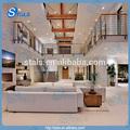 Barandilla de hierro para balcón/cubierta/porche/escalera de pasamanos de interior