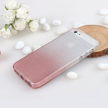 2014 new arrive brushed tpu cell phone cases for iphone 5s, fashion graduate color cover for iphone5