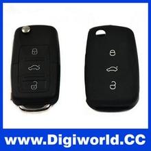 Silicone Car Flip remote key covers 3 button for Vw Golf Passat Polo Bora