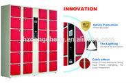 popular supermarket barcode operated locker cabinet