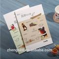 finess de impressão de papel fino a5 caderno da escola para fornecer a lista de