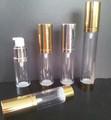2014 caliente de la venta KL cosmético mate de plata PP ABS de aluminio botella de plástico sin aire loción 15mk 20mk 30 ml