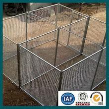 Beautiful galvanized welded metal dog fence