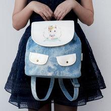 LANGUO children backpack/ school bag with cute cat design model:MGKD-3081