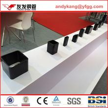 No.1,EN10219 a500 square steel pipe large rectangular tube