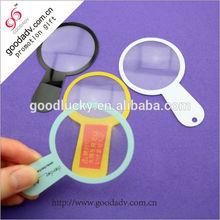 Fashion custom plastic magnifying lens for promotion
