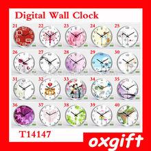 OXGIFT Customized wall clock,metal digital number clock T14147