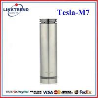 Best price tube 26650 battery Tesla M7 mod e-cigarette 510 delrin drip tip adapter