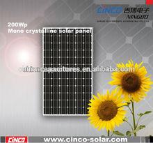 200w solar panel, triple junction solar cell
