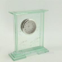 Mantel glass table alarm clock