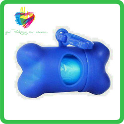 Yiwu doggy bone plastic dog waste poop bags with dispenser