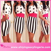 ladies short dresses polka dot tight mini dress