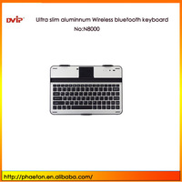 For Samsung Galaxy Note 10.1 N8000 Aluminum bluetooth keyboard case