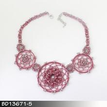 Delicate great crochet necklace pattern