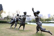Bronze Children Playing Games Sculpture