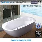 VSPA 2014 New Design White Acrylic Bath Tub V-026D