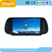 2013 the latest 7 inch LCD hd car dvr rearview mirror for universal car monitor