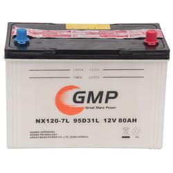 Rechargeable lead auto dry battery 12V80AH (95D31L)