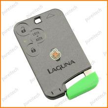renault laugna key card car key blanks custom 3 buttons remote key with logo
