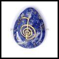 Vente en gros de pierres précieuses naturelles cadeau symbole reiki gravé pierres- pierre précieuse bleue lapis lazuli pierre pendentif goutte souhaite la pierre de l'énergie