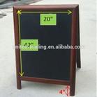Hot selling wooden standing menu chalkboard paint