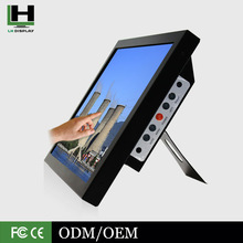 17 Inch Industrial Control System Metal Housing Touch Screen LED Monitor