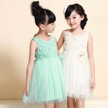 Tam1004 Factory direct sale girls dress summer model Net yarn puffy pinafore dress high quality Children's clothing