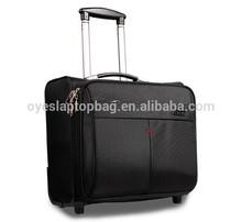 cabin size nylon draw-bar box laptop wheeled briefcase