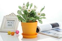 Garden plastic flower pot mug