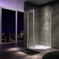 Nível de qualidade banheiro diamante pivot aberto style banheiro vidro temperado com espessura de 6 mm banheiro