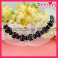 Nueva moda de diseño hecho a mano patrón de la blusa de cuello chino wnl-1211