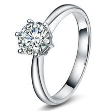 Nuovo prodotto 18k solitario in oro bianco moissanite anelli di fidanzamento con diamante per le donne 0,50 carati