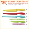 6 pieces plastic handle color non-stick kitchen knife sets