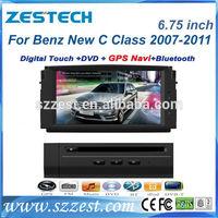 ZESTECH Car DVD For MERCEDES Benz new C class 2008-2010 GPS A8 Chipset 3 zone POP 3G/wifi BT 20 dics playing