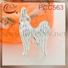 plated double wings pendant with Lobster Claw Clasps