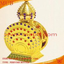 5ml/7ml/10ml/15ml Arabic Perfume Bottle,luxurious gold ruby cap perfume sprayer