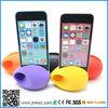 mini cute egg silicone audio music dock horn speaker for iPhone