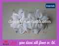 hecho a mano breve de novia flor del pelo