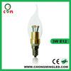 Factory led b22 candle bulb bayonet cap led candle lamps 110v/220v