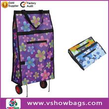 new design non woven bag with zipper foldable print shopping bag