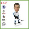 Custom hockey player bobble head mass production