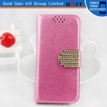 Hot Selling Silk Pattern Flip Case For Samsung S5 I9600