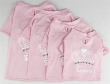 Fashion adorable pink doggie T-shirt princess dog clothes